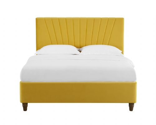 AXE BD44  Bed Frame Velvet (Mustard Yellow)